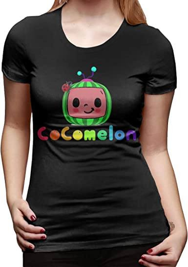 Amazon Com Ap Room Women S Short Sleeved T Shirt Cocomelon Cool Personality Design Black Clothing,Small Space Interior Design Ideas Living Room