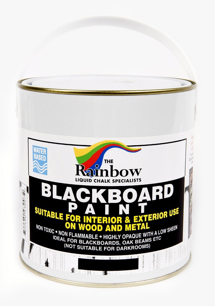 Blackboard Paint - 1 Litre tin Ideal for creating or restoring chalkboards Rainbow Chalk Markers Ltd 830071L