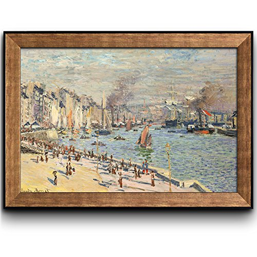Port of Le Havre by Claude Monet Framed Art