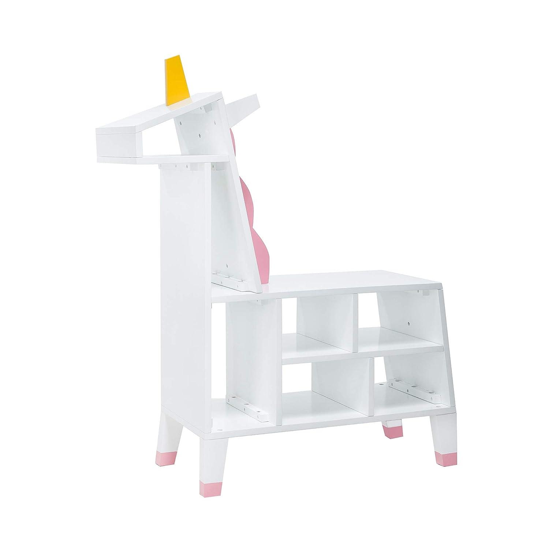 Teamson Kids Unicorn libreria per Bambini, Colore White/Pink, TDF-00002