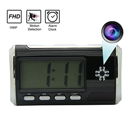Inriguroso reloj despertador de cámara oculta portátil cámara espía DVR detección de movimiento con 16 GB