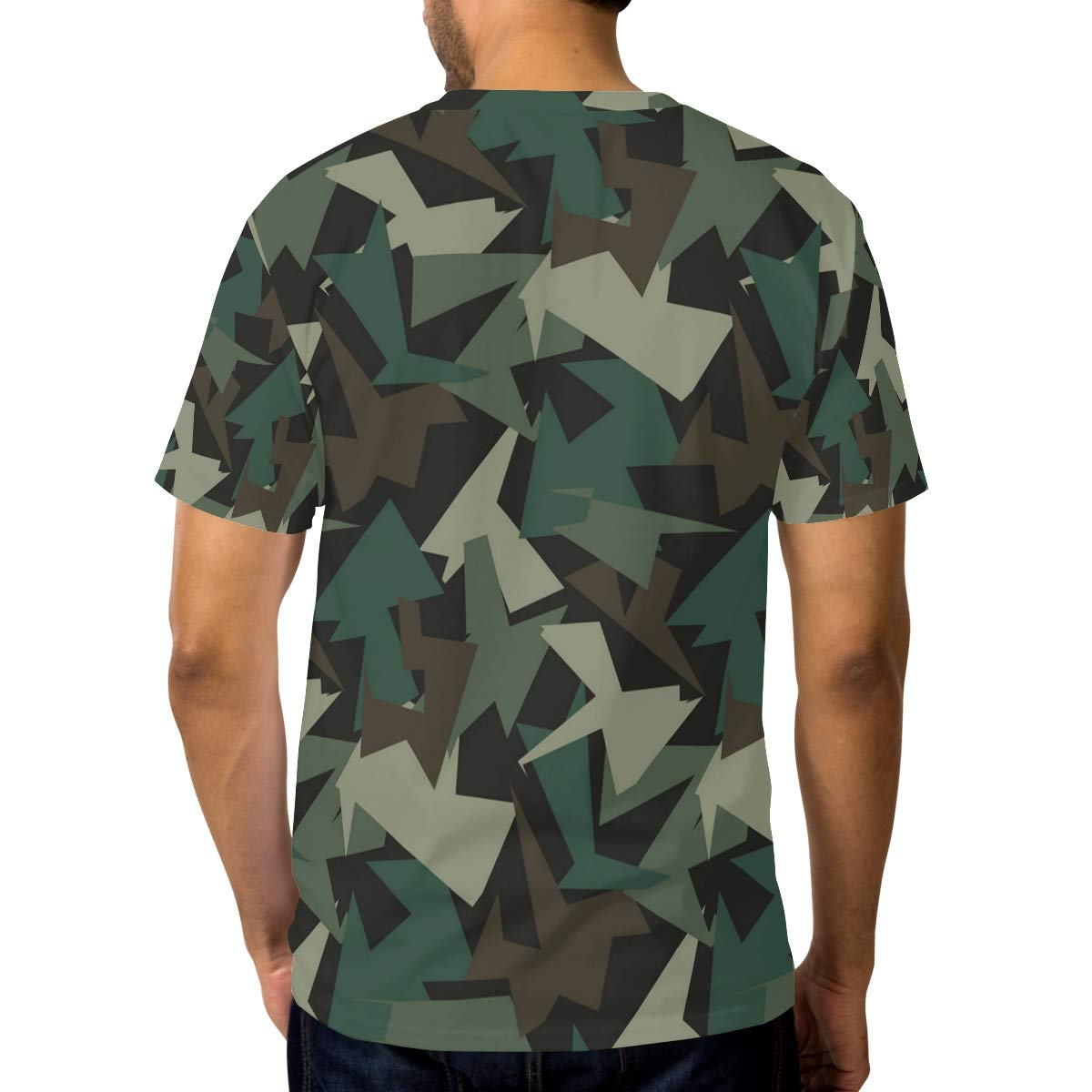 Abstract Camo Balloons Bird Mens T Shirts Graphic Funny Body Print Short T-Shirt Unisex Pullover Blouse