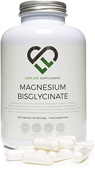 Love Life Supplements - Magnesio bisglicinato quelato, 2500 mg (250 mg de magnesio)