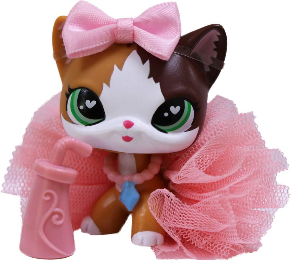lpsloverqa Shorthair Cat Flame Green Heart Eyes with Accessories Lot Action Figure Boys Girls Kids Xmas Gift Flame Shorthair Cat