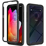 Dzxouui for TCL 10L Case,TCL 10 Lite Case,Heavy Duty 2 in 1 Protective Shockproof Bumper Hybrid Back Clear TPU Cover Phone Ca