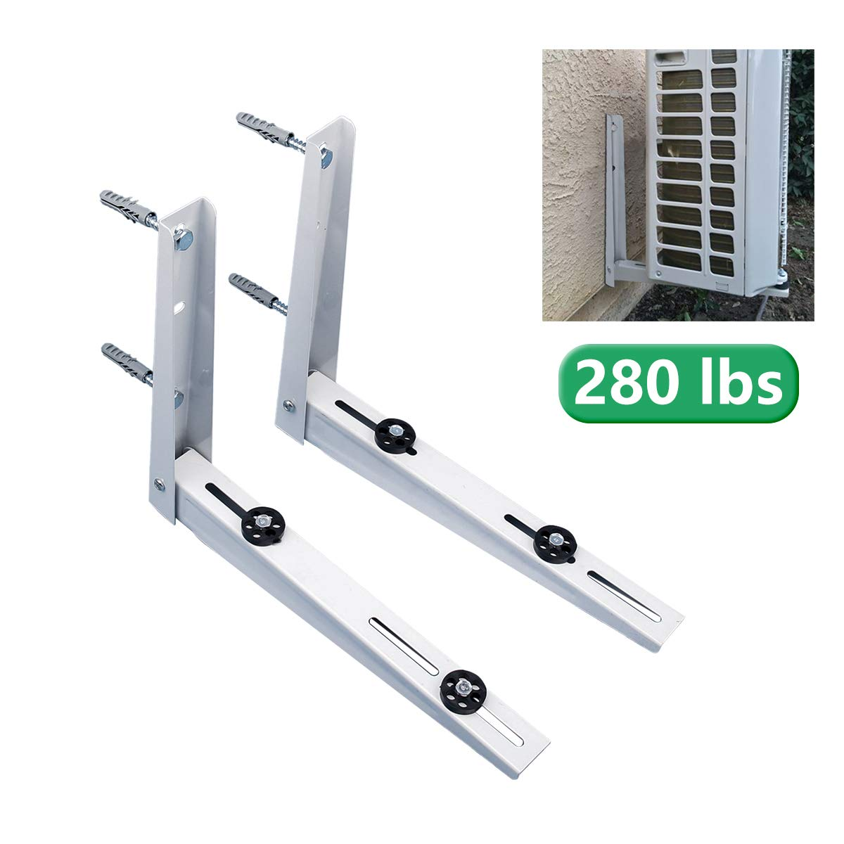 Forestchill Foldable Wall Mount Bracket, fits Mini Split Ductless Outdoor Unit Air Conditioner Condensing Unit Heat Pump System Condenser Universal Design, Support up to 280lbs, 9000-18000 BTU, 1-2P