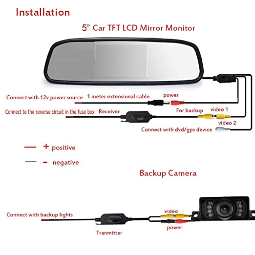 Wireless Rear View Camera Wiring Diagram : Tft reversing camera wiring diagram somurich