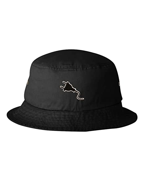 Amazon.com  Go All Out One Size Black Adult Plug Embroidered Bucket ... 0ef2b83159f