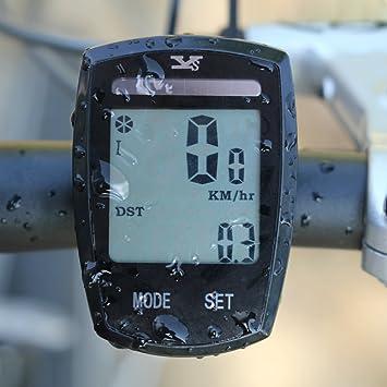 Foxpic Solar LCD Retroiluminación Impermeable Ciclismo ...
