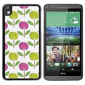 Be Good Phone Accessory // Dura Cáscara cubierta Protectora Caso Carcasa Funda de Protección para HTC DESIRE 816 // Pink White Green Wallpaper