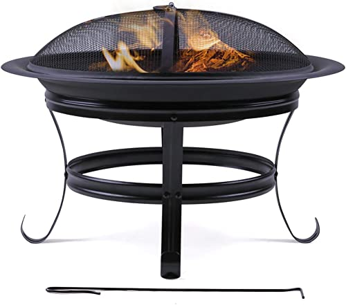 Wostore 26 Inch Large Outdoor Fire Pit