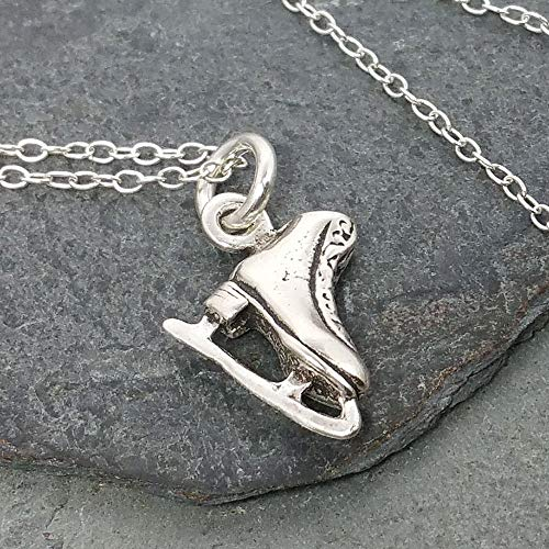 Ice Skate Necklace - 925 Sterling Silver]()