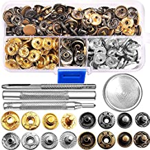 69 Sets Snap Fastener Kit Button Tool Press Studs Fastener Snap on Set Clothing Snaps Kit Fixing Tool (633(12.5mm)) by Outee