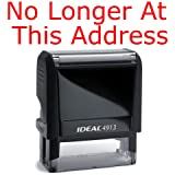 No Longer At This Address Rubber Stamp for Office Use Self-inking