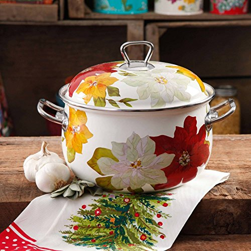 The Pioneer Woman Poinsettia 4 Quart Dutch Oven 2 Piece