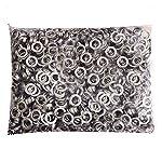 """Pinty 1000 Grommets + 1000 Washers - Nickel Finish - #2 Size, 3/8"""" Eyelets"""
