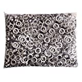 Pinty 1000 Grommets + 1000 Washers - Nickel Finish - #2 Size, 3/8'' Eyelets
