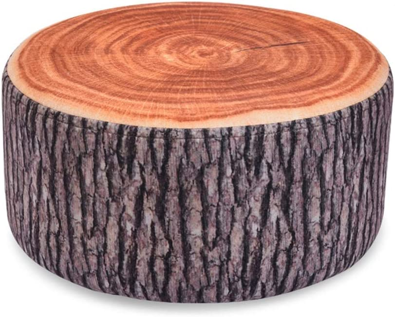 Creative Natural Woods Design Log Soft Chair Cushion Creative Short Stroller for Living Room Bedroom Foyer Color : Green