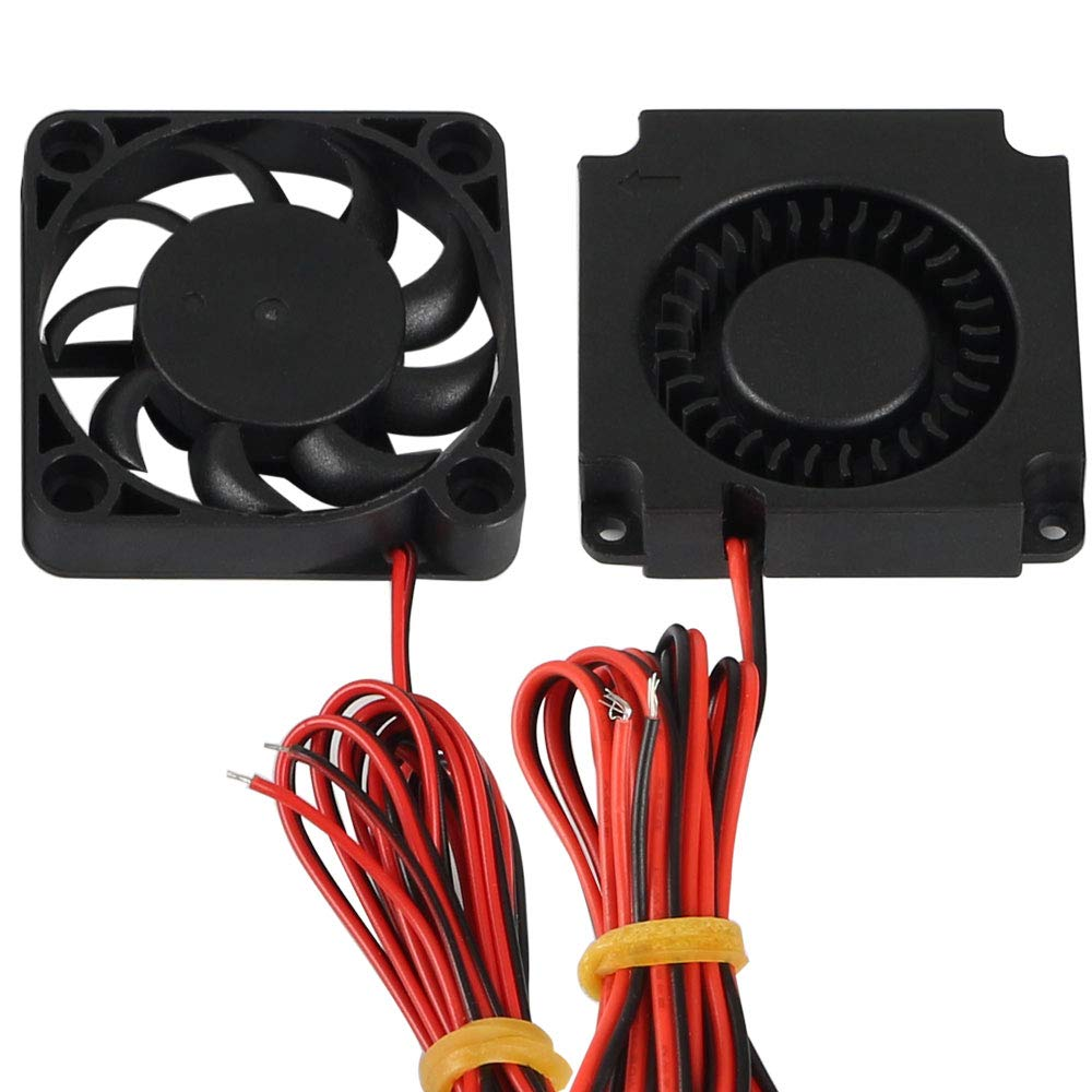 FYSETC CR10 Accessories 4010 Circle Fan 40x40x10mm 12V DC Cooling Fan and 12V Blower Fan for Creality 3D Printer Parts CR-10, CR-10S, S4, S5