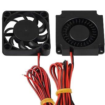 FYSETC Impresora 3D partes 4010 soplador 40x40x10 mm 12 V DC extrusor de ventilador de refrigeración de extremo caliente ventilador de radiador ...