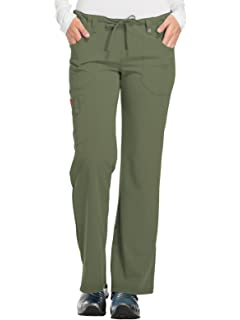 4cb1929d693 Amazon.com: Dickies Women's Xtreme Stretch Mid Rise Drawstring Cargo ...