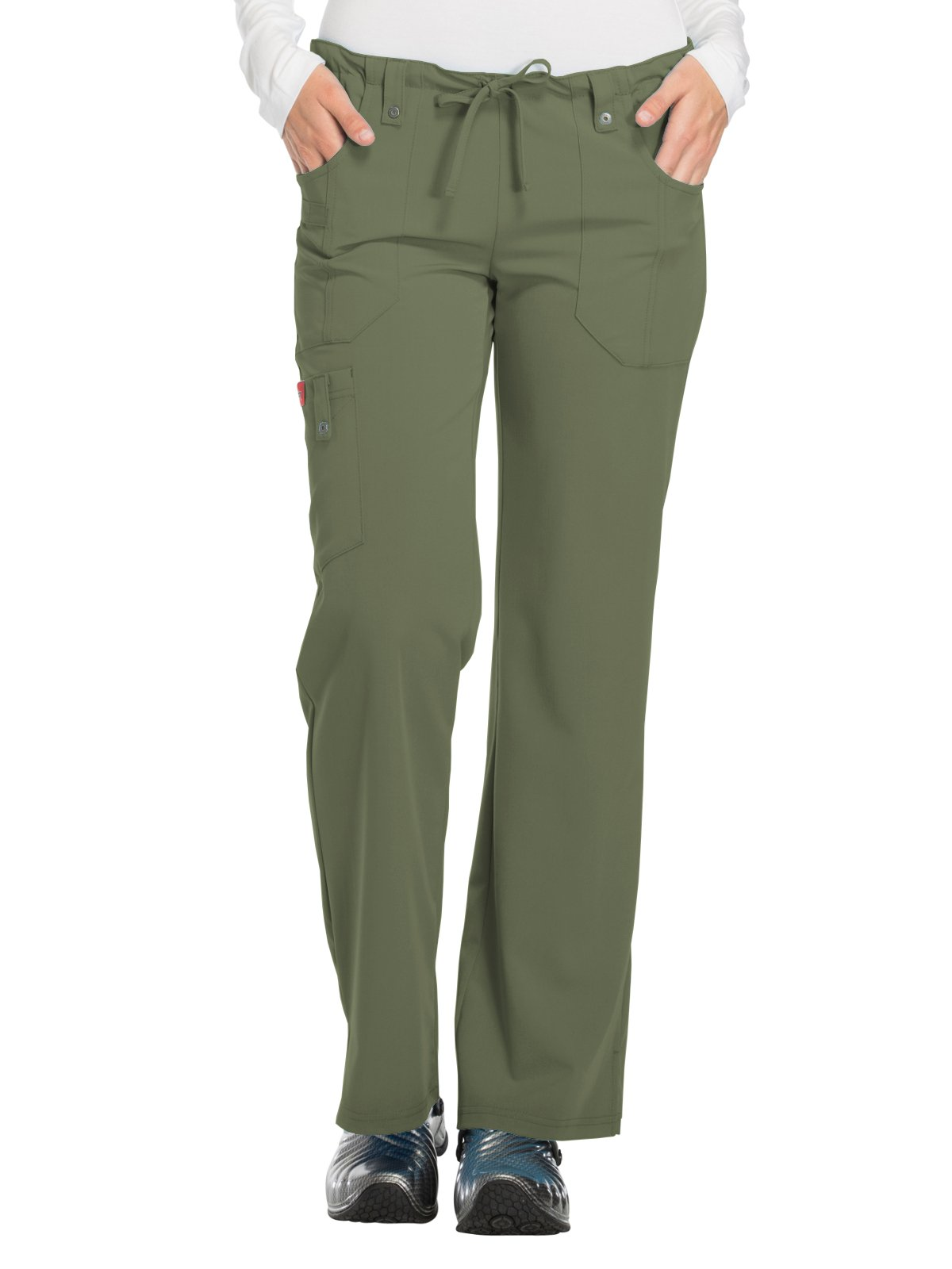 Dickies Xtreme Stretch Women's Drawstring Scrub Pant X-Large Tall Olive