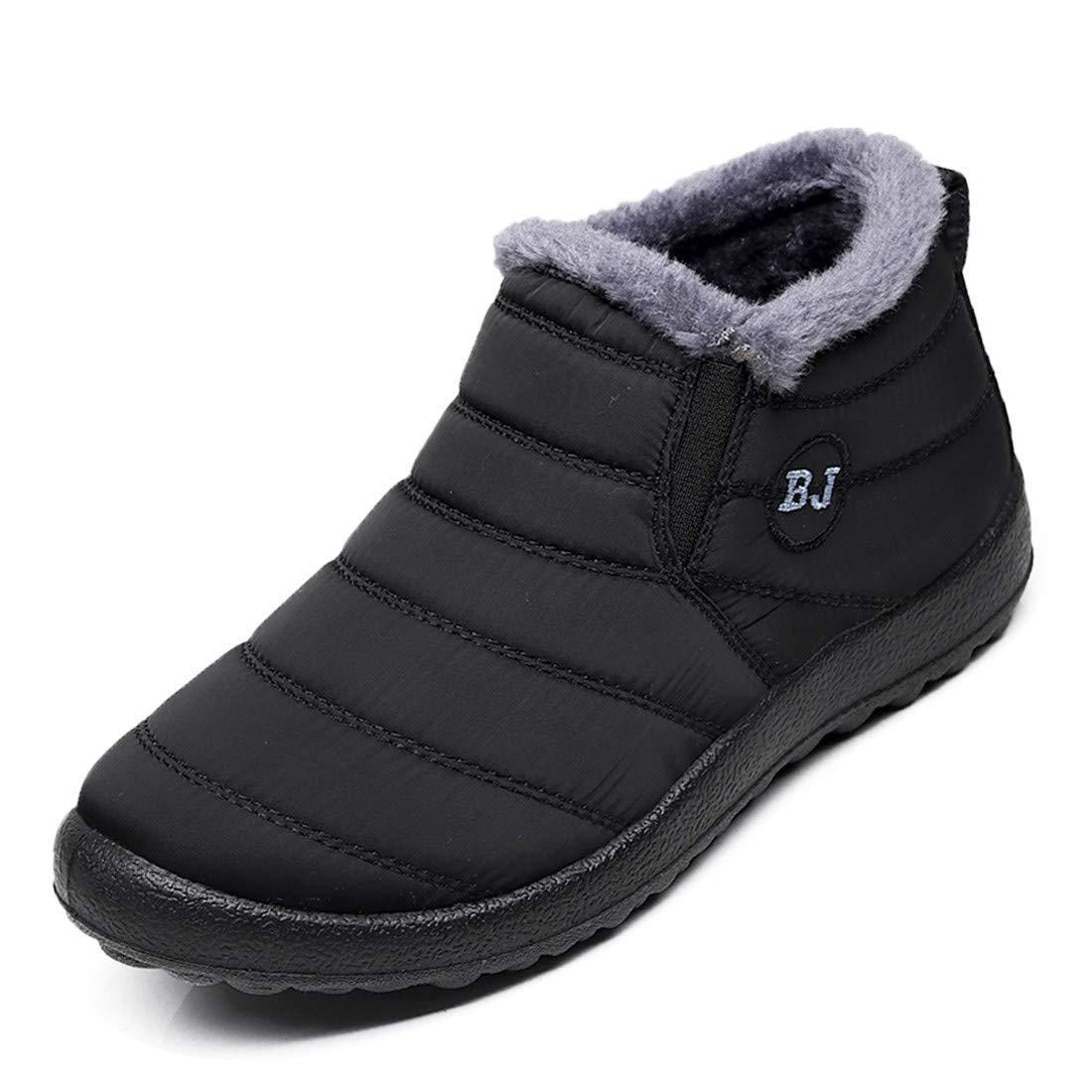 d2353b60cb836 HAVINA Womens Warm Snow Boots Outdoor Fur Lining Winter Shoes Anti-Slip  Lightweight Ankle Bootie