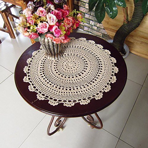 yazi Handmade Cotton Coaster Lace Doilies 20