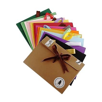 Zhi Jin 12 piezas en blanco carta sobres tarjeta de visita ...