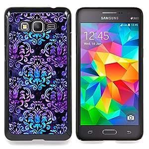 For Samsung Galaxy Grand Prime SM-G530F G530FZ G530Y G530H G530FZ/DS , Patrón del trullo púrpura Wallpaper - Diseño Patrón Teléfono Caso Cubierta Case Bumper Duro Protección Case Cover Funda