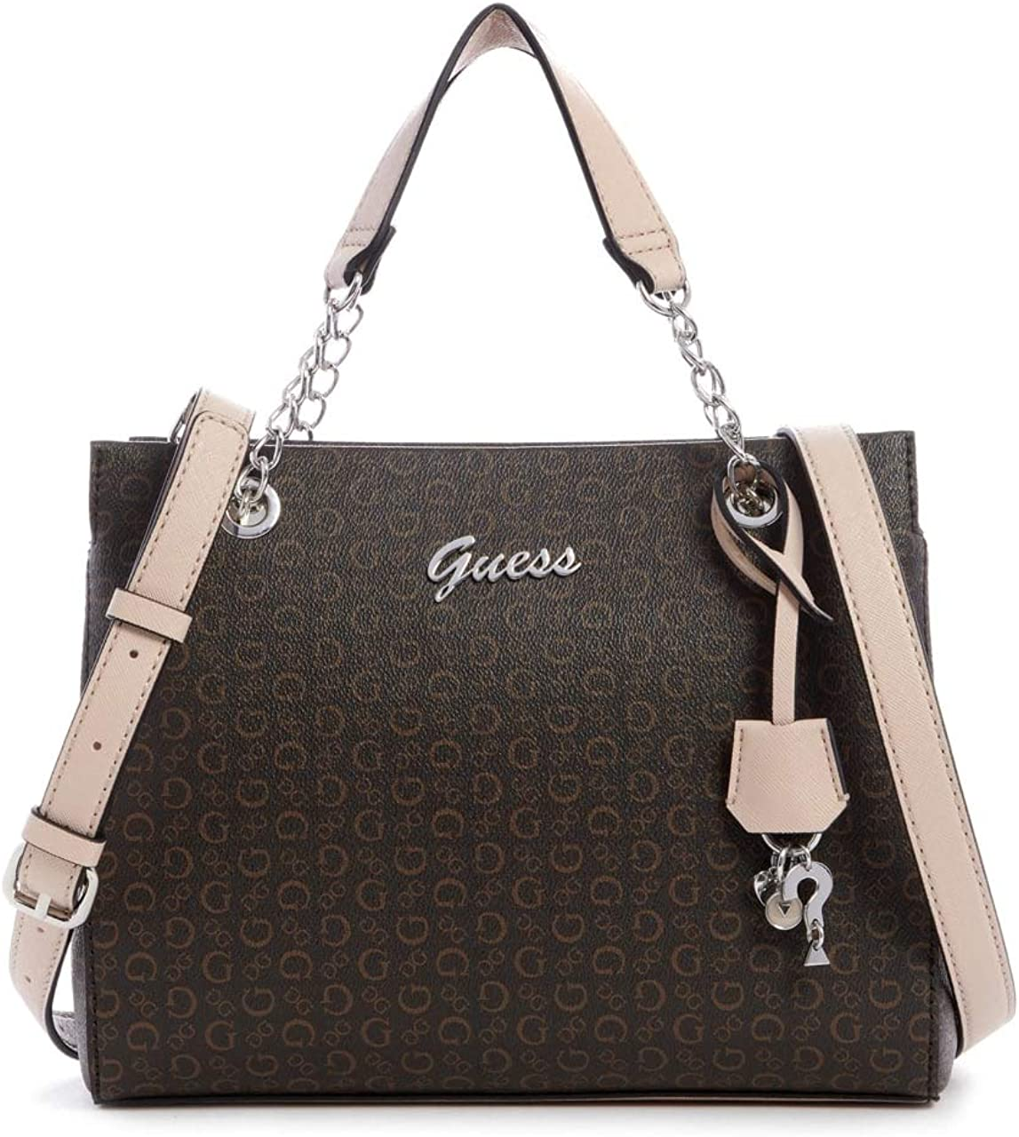 GUESS Factory Womens Corwin Logo Satchel