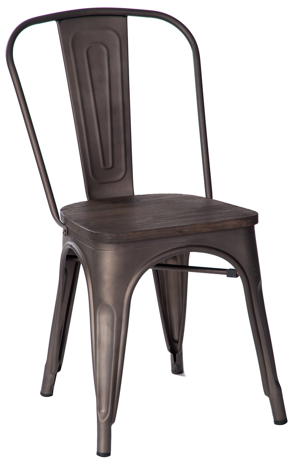 Merveilleux Amazon.com   Merax High Back Metal Dining Chair With Wood Seat Stackable  Vintage Dining Bistro Cafe Side Chairs, Copper   Chairs