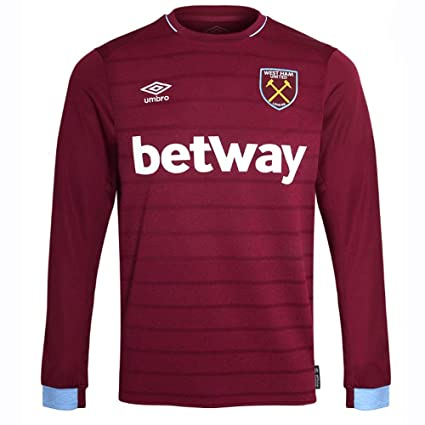 5b411d1e3 Amazon.com   Umbro 2018-2019 West Ham Long Sleeve Home Football ...