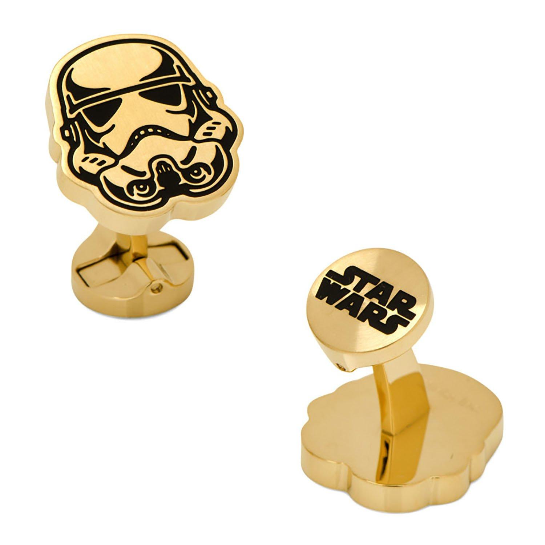 Stainless Steel Black and Gold Stormtrooper Cufflinks by Star Wars Cufflinks