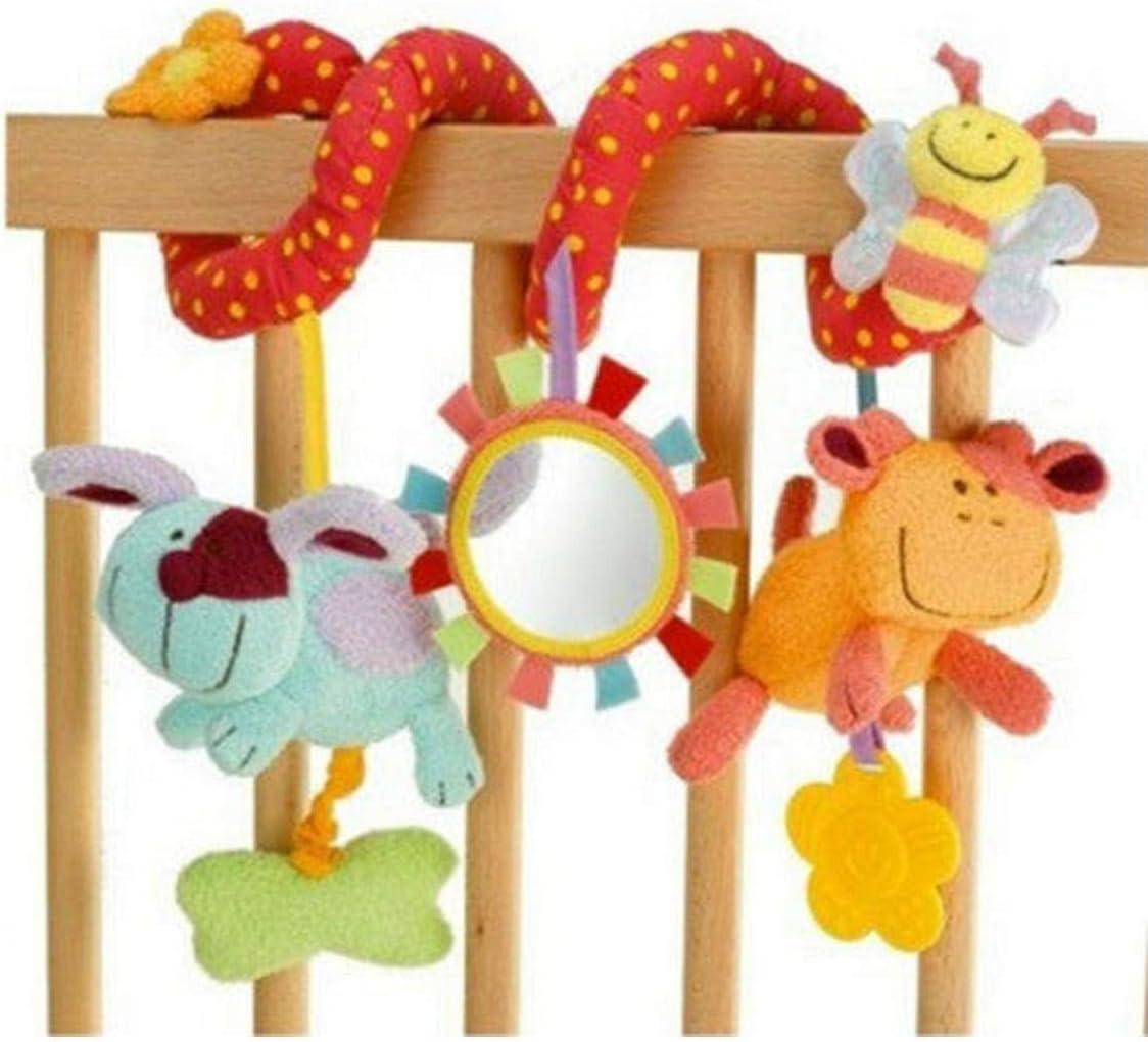 Oulensy Nueva Cuna Espiral Actividad Colgando Asiento Decoración Juguetes para bebés Cuna de Coches Cochecito de niño del bebé