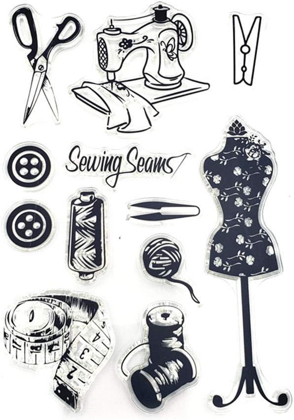 WANMEI Costura Silicona Sello Sello Sello DIY Scrapbooking En Relieve Decoraci/ón /Álbum de Fotos