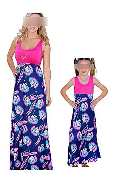 Amazon.com: Mamá y yo Vestidos Casual Floral Familia Trajes ...