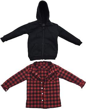 Amazon.es: IPOTCH 1/6 Camisa a Cuadros Roja y Sudadera con Capucha para Figura de Acción, Accesorios para Casa de Muñecas: Juguetes y juegos