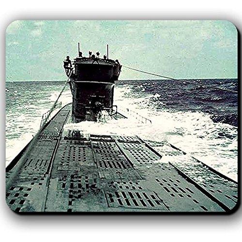 Deutsches U-Boot im Atlantik Grauer Wolf Unterseeboot Marine Farb Foto Bild aufgetaucht Deutschland - Mauspad Mousepad #13789