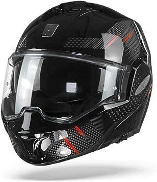 Hombre Scorpion NC Casco per Moto M Negro//Rojo