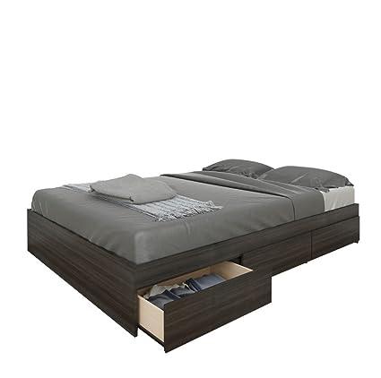 nexera furniture website. Nexera 225430 Allure Full Size Storage Bed, Ebony Furniture Website