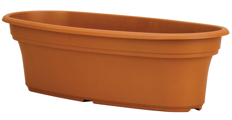 Akro Mils PAP1200E22 Panterra Oval Planter, Clay Color, 12-Inch Length