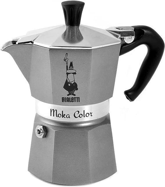 Bialetti Grey Cafetera 3 Tazas, Aluminio, Gris: Amazon.es: Hogar