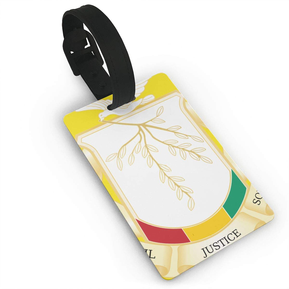 KODW12 Coat of Arms of Guinea-New Luggage Tag Travel Bag Labels Suitcase Bag Tag Name Address Cards