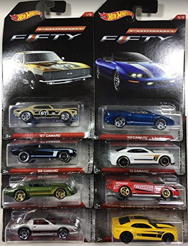 Hot Wheels Camaro Fifty 1967-2017 Exclusive 8 Car Set