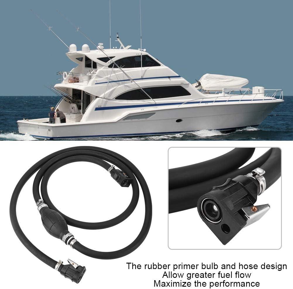 Fuel Line Assembly,3//8in Boat Motor Fuel Gas Hose Line Assembly Primer Bulb Connector