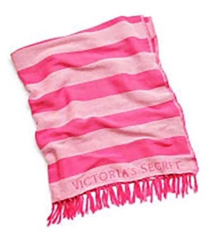 Victorias Secret Beach Blanket Pink Stripes