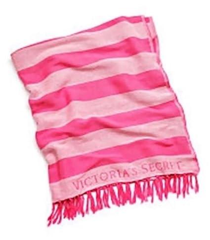 Victorias Secret Beach Blanket Pink Stripes