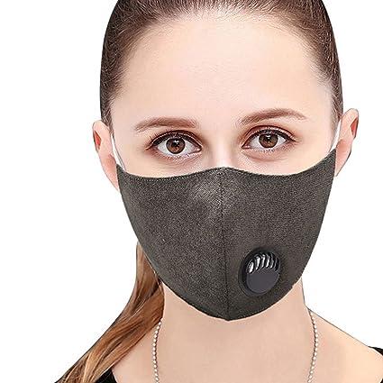 Tcare 1Pcs Moda Algodón Unisex Válvula de Respiración Máscara de Boca Anti-Polvo Máscara de