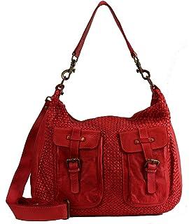 74b0aa5de288f BZNA Bag Emma Rot rosso red Italy Designer Damen Handtasche Schultertasche  Tasche Schafsleder Shopper Neu
